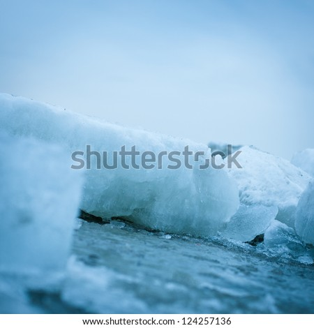 Ice closeup on the sea