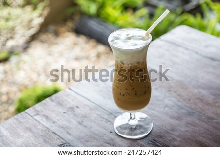 Ice coffee - stock photo