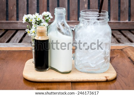 Ice coffee mix by yourself