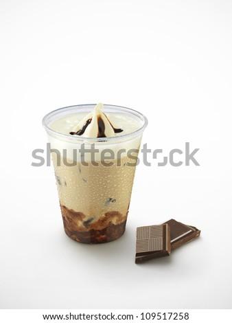 ice coffee with chocolate - stock photo