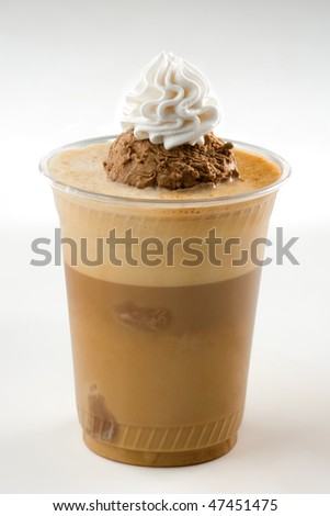 Ice coffee with ice cream