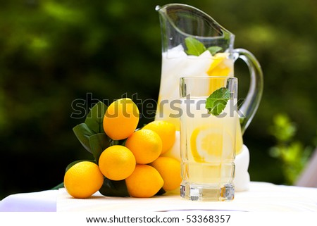 Ice Cold Lemonade - stock photo