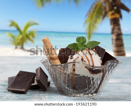 Caramel Sundae Stock Photos, Illustrations, and Vector Art