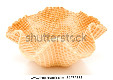 Ice cream cone on white background - stock photo