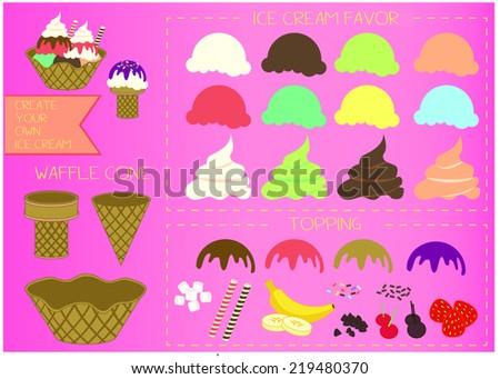Ice Cream Creation - stock photo