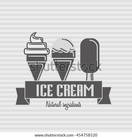 Ice cream logo template - stock photo