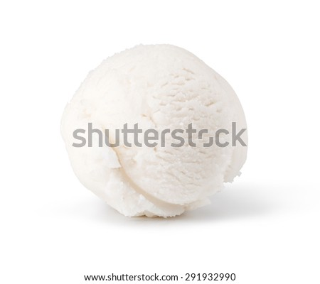 ice cream scoop isolated on white background