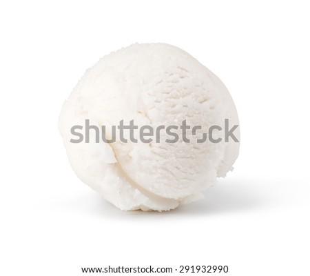ice cream scoop isolated on white background - stock photo