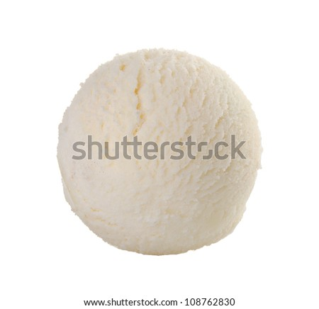 ice cream scoop. Vanilla ice cream - stock photo