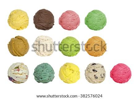 ice cream scoops - stock photo