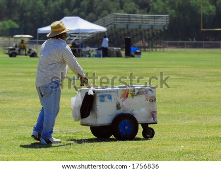 Ice Cream Vendor in Park