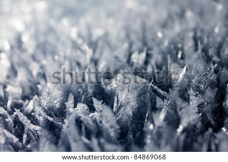 ice crystals - stock photo