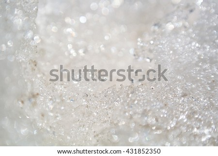 ice crystals nature backgrounds and textures - stock photo