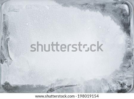 Ice cube background - stock photo
