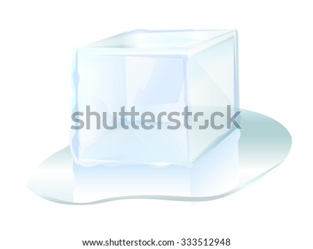 ice cube ice block icon illustration