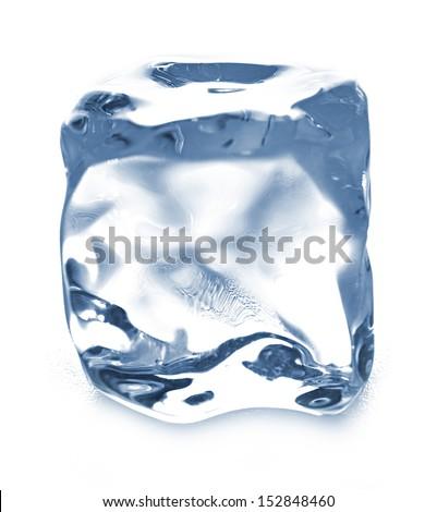 ice cube isolated - stock photo