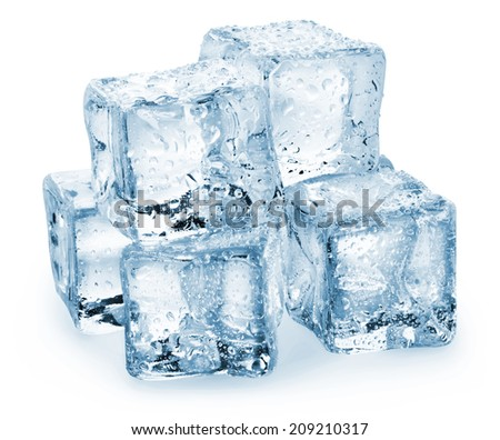 Ice cube isolated on a white background. Clipping Path