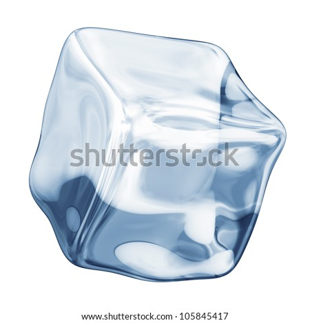 ice cube on a white background