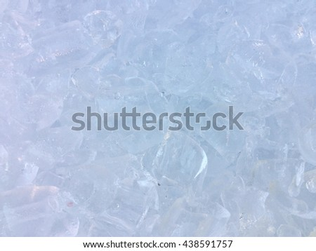 Ice cubes background / ice texture