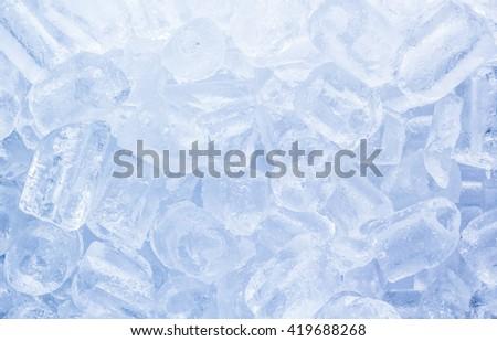 Ice cubes close-up background - stock photo