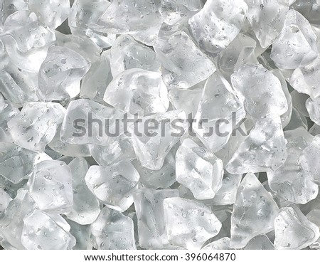 Ice cubes detail - stock photo