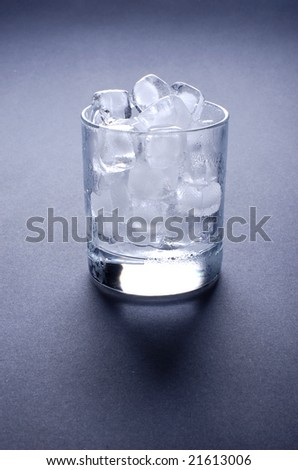 Ice cubes in glass - stock photo