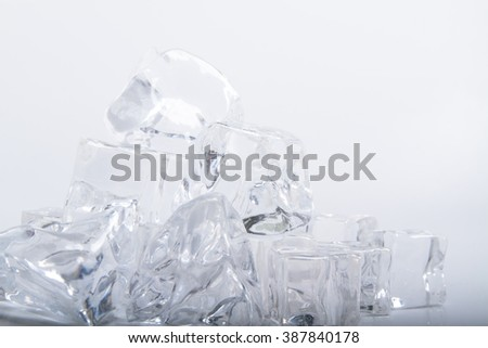 ice cubes on the table  - stock photo