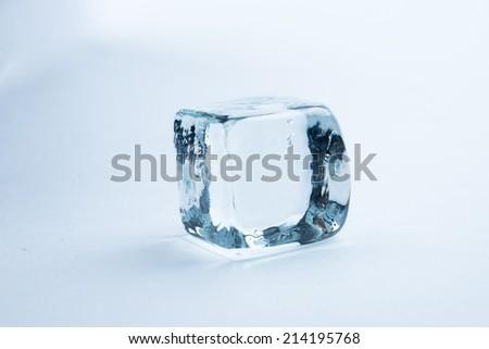 ice cubes on white background - stock photo