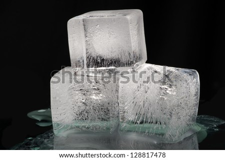 Ice cubes - real ice (no Plastic) - stock photo