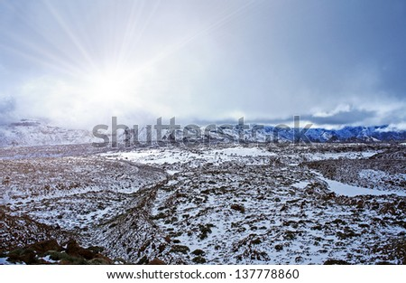 Ice Desert - stock photo