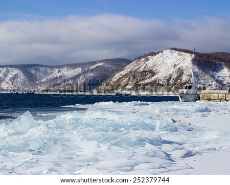 ice-drift on lake Baikal