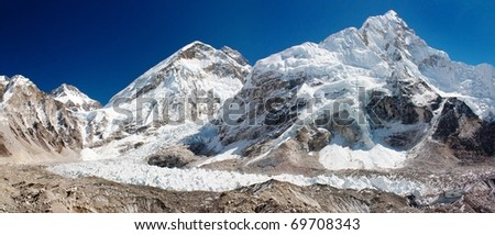 ice-fall khumbu from everest b.c.