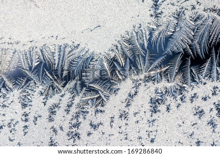 Ice flowers on glass - texture