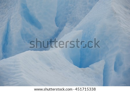Ice forms and textures Perito Moreno. Argentina