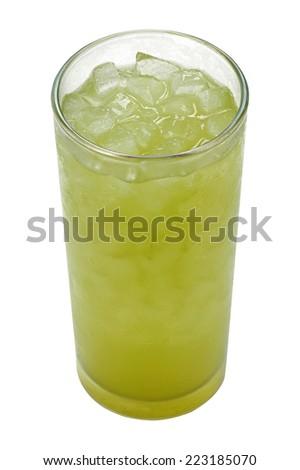 Ice Green tea  - stock photo