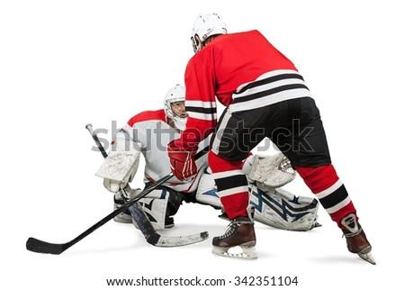Ice Hockey. - stock photo