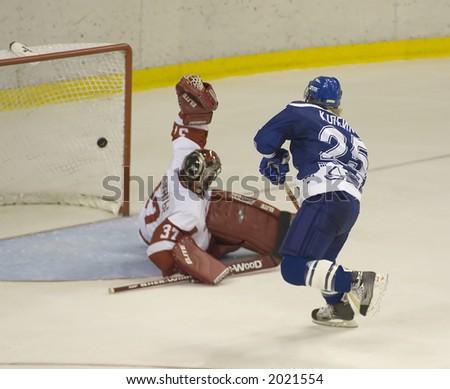 Ice Hockey. Frame #2. Goal - stock photo