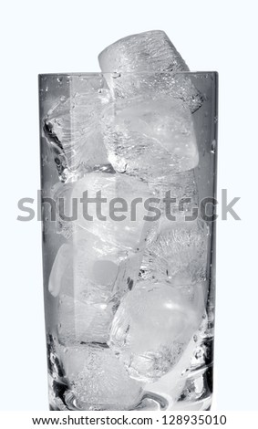 Ice in the glass (real Ice)