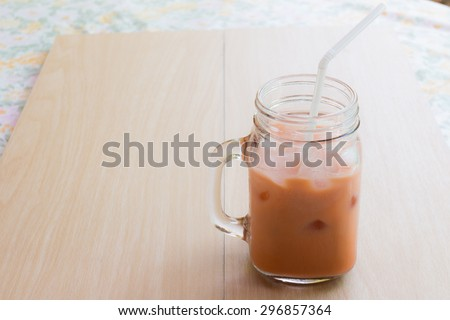 Ice milk tea,Thai milk tea.