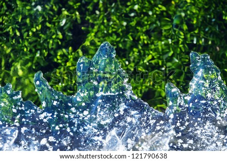 ice on a river - abstract texture - stock photo