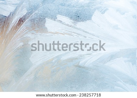 ice on a window - stock photo