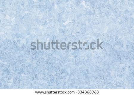 ice pattern on frozen window seamless background - stock photo