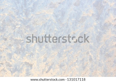 Ice pattern on window glass - stock photo
