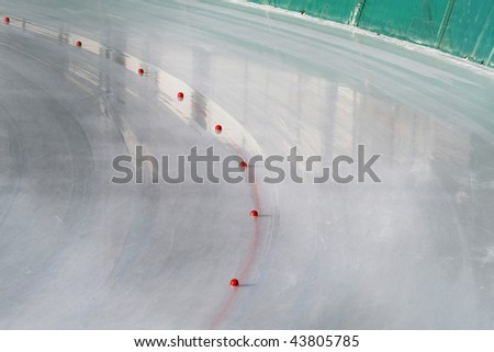ice rink - stock photo