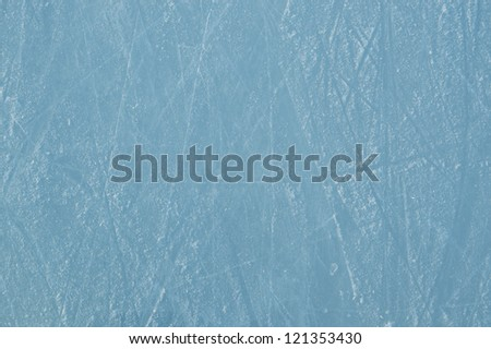 ice rink with scratches as a background - stock photo