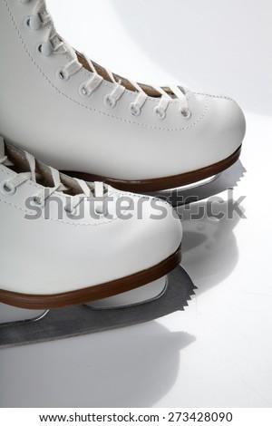Ice Skate, Figure Skating, Winter. - stock photo