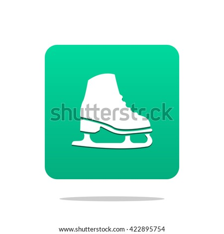 Ice skate icon - stock photo