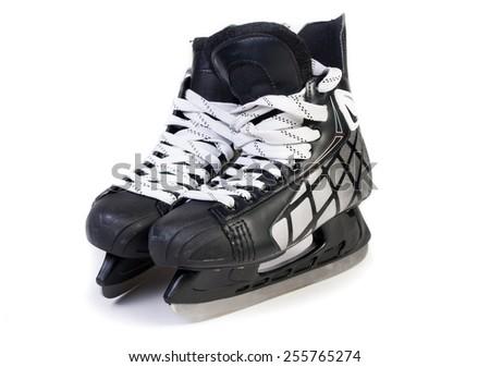 ice skates isolates on white background - stock photo