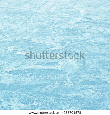 Ice skating field - stock photo