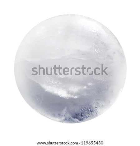 Ice sphere isolated - stock photo